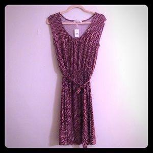 Ann Taylor LOFT Red/White Knit Summer Dress